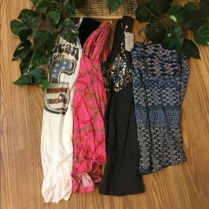 Lot of XSmall Tops Old Navy and Rue 21